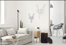 SBI | GEOMETRIC interior / The combination of  openwork objects with linear shapes with full, geometric solids are the perfect interior design theme.