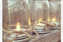Mason Jar Art and other Crafts / Though a person who doesn´t have the talent, the money or the patience to do crafts or decorate, I do admire this whole genre and I´m able to appreciate its intricacies and beauty.  So here are my dream-pins.