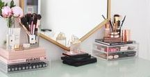 MAKEUP STORAGE / Inspiration for my very own vanity table and perfect makeup organization and makeup storage.