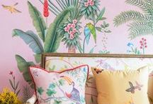 TROPICAL PRINTS / Tropical inspiration for your home, from colourful wallpaper to leaf print cushions.