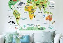 Kid's Bedroom & Playrooms / Boy + Girl bedroom and play room decoration ideas / inspiration.
