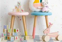Childrens room / Inspiration. Ideas. Walldecor. DIY. Fun. Play. Cool. Storage. Closet. Beeds.