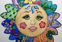Zentangle & Doodle in colour
