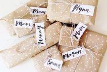 ♦ CADEAUX ♦ / Des idées d'emballage cadeaux.