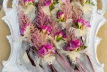 Bride, Bridesmaid, Flowergirl, Groom details / Details about floral accesories