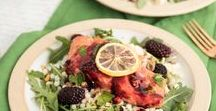Salads - Blackberries & Raspberries / Ideas on how to incorporate Oregon Raspberries and Blackberries into your salads!