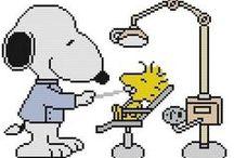 HAMA og broderi mm. Søren Brun og Snoopy