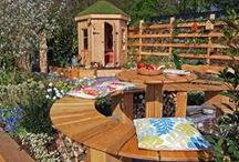 Garden Furniture & Structures / Garden furniture and structures created by Made for Gardens. Bespoke hand made garden benches, children's dens and wildlife fences.