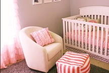 Nursery Decor (Baby Girl) / White and Coral Theme
