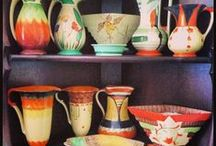 Myott & Sons art deco pottery/ceramics / Am in love with this British company's Art Deco work. Rough, ready and affordable.