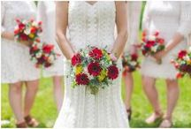 Red and Yellow color weddings