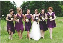 Purple and Gold tone Weddings / Gorgeous rustic wedding with purple and gold color tones!