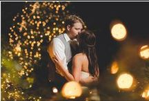 Backyard Weddings / Stunning inspiration for a backyard wedding surround in twinkly night lights!