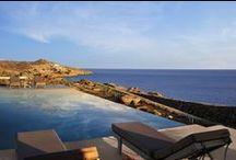 Mykonos / Four autonomous vacation villas in Mykonos, Greece, at the sea front. The villas enjoy private outdoor space and 4 swimming pools. Μύκονος. Τέσσερις αυτόνομες εξοχικές κατοικίες στο παραλιακό μέτωπο Ν. Μύκονος με κοινό περιβάλλοντα χώρο και τέσσερις πισίνες. Nikolas Dorizas Architect Architettura IUAV Venezia Tel: +30.210.4514048 Address: 36 Akti Themistokleous – Marina Zeas, Piraeus 18537