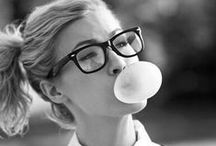 glasses / ways to wear glasses, frames