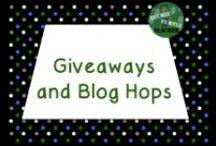 Giveaways and Blog Hops / Giveaways and blog hops for the elementary teacher
