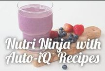 Nutri Ninja® with Auto-iQ™ Recipes / Walk away while your Nutri Ninja® is working and you'll have a perfectly blended treat each and every time thanks to unique blending, pulsing, and pausing cycles. One-touch intelligence makes healthy living easy. Plus, it doesn't take up very much counter space; score! / by Ninja Kitchen