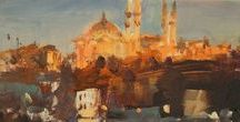 My Istanbul painting. Watercolor Acrylic.