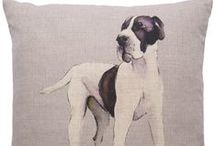 Great Danes / All Nikki's fabrics are designed and printed in her studio in Chobham, England and can be viewed at www.nikki-szabo.co.uk