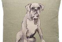 English Boxer Dogs / Fabrics from Nikki Szabo. www.nikki-szabo.co.uk
