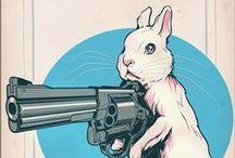 bad hare day / hare rabbit bunny hase lapin >>>Von echten Hasen und Welchen die gerne Hasen wären<<< / by one of two