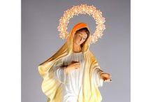 Statue Madonna illuminata / la raccolta delle statue dedicate alla Madonna, con aureola illuminata. Madonna di Medjugorje, di Lourdes e Miracolosa, ogni statua è caratterizzata da un' aureola illuminata da 12 luci.