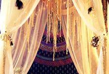 Romantic forest bedroom