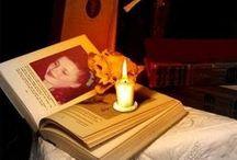 "Books my love - Książki moja miłość. / ""Who reads books lives twice.""  Umberto Eco / by Teri Pilecka"
