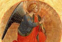 Angels / Cantique qui résonne sans fin dans les choeurs des anges : « Saint! Saint! Saint est le Seigneur Dieu des armées! Les cieux et la terre sont pleins de votre gloire. »