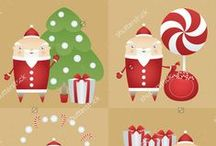 Christmas, New Year Cartoon & Decorations