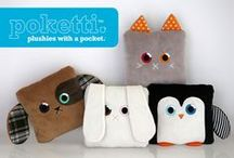 Poketti Plushies with a Pocket / Designed by young entrepreneurs, Poketti Plushies with a Pocket are adorable animal pillows with a useful back pocket to hold your phone, notebook, and other small things!