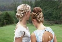 Bridesmaids hair styles / upstyles and formal hair styles