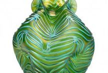 Art Deco glass ,antique glass,and various others / Angular