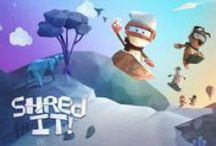 Shred It Artwork / The concept art and inspiration for the mobile game, Shred It!