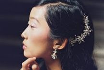 Headpieces and veils / hairstyles which incorporate headpieces, flowers and veils