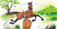One Painted Pony Ill. / One Painted Pony Ill.  A collection of Drawings by Karie Lynn Reiffer Eefsting. Cartoons if you will of the Equine nature. Situation's people encounter every day with their equine other.  All are available in cards or prints. Hope you enjoy them.