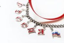 Russia /  charms Russia fashion, silver bracelets