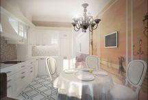 Кухни и столовые / Kitchen and dinning room / Проекты и фотографии кухонных и столовых зон от Finoarte