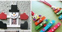 It's the holidays! - Crafts / holiday crafts; featuring tons of DIY projects for you and your family/kids/students Great way to save money on holiday decoration.