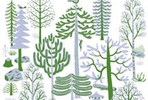 alberi e foglie