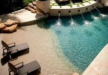 Stunning Swimming Pools! / Unique, Aesthetically pleasing and colorful Swimming Pool, Concrete Pool decking ideas, tips, designs, applications & coatings.