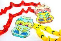 School - Thema Chinees nieuwjaar en carnaval / by Eve Pinxteren