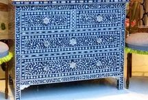Hand Painted & Funky Furniture / Never knew this kind of furniture existed until I saw it on Pinterest.  I fell in love with the beautiful colors and interesting way of painting them on everyday furniture to liven up our homes! / by Bonita Collingwood