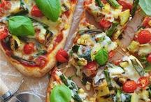 Pizza Bar / What's a pizza without that cheesy, chemical beaten crust? It's still pizza! Check out these clean eating pizzas that will blow your Friday night or any night up!