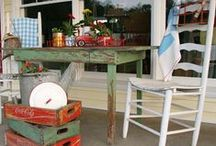 Porches / Porches are for resting and visiting with Family and Friends. / by Doria Moody