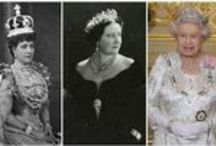 """CROWNS & TIARAS / If you notice that Prince Charles current wife is missing on this board or edited out of group shots it is intentional. I still get a visceral effect when I see Photos of the woman that Princess Diana called """"The Rottweiler"""". / by Elizabeth Jackson"""