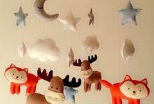 Baby Boy's Nursery Room / Theme: Woodland