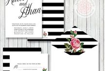 Wedding Invitations Black&White