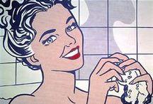 """LICHTENSTEIN / Roy Lichtenstein : 1923 - 1997  Un des """"pères fondateurs"""" du pop art."""
