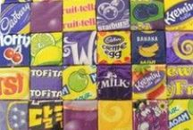 Bilder aus Bonbonpapierchen / Pictures made from candy wrappers